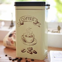 Zakka Vintage Coffee Tin Coffee Cans Home Decoration Coffee Box