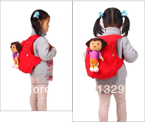 Best Dora the Explorer plush presentes bolsa de ombro bolsa para crianças mochilas escolares mochila grátis frete(China (Mainland))