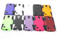 free shipping 1pc/lot  new grid style cover cases for Samsung galaxy s4 mini i9190 case
