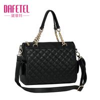 2013 shoulder bag small bag fashion women's plaid handbag vintage shoulder bag chain bag