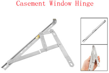 """12"""" Silver Tone Stainless Steel Bars Casement Awning Window Hinge 2pcs"""