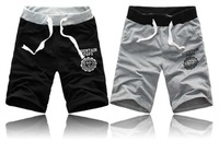 2013  New Causal Cotton Shorts Sweatpants Men  Five Minutes of Pants Beach Pants  Black and Grey M-XXL