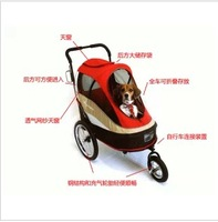 Ibiyaya second generation pet dual trailer fs980 dual-use pet stroller cat dog