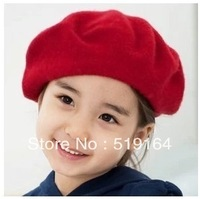 Free Shipping! Colorful Solid Fashionable Children Berets