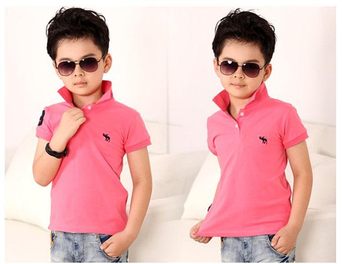 Pink T Shirt Boys Custom Shirt