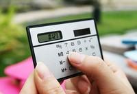 Free Shipping 2013 Newest Mini Slim Credit Card Solar Power Pocket Calculator / Scientific Calculator Hot Selling