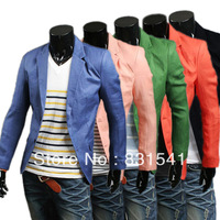 Man single-breasted bright color of new fund of 2013 autumn winters is recreational suit jacket