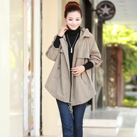 2013 autumn women's fashion plus size casual women's trench spring and autumn outerwear