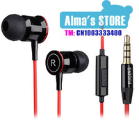 free shipping new  AlA-F35i New 3.5mm high quality earphone  headphone with mic for HTC Samsung  Mobile Phone music mp3,mp4