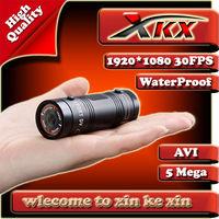 Freeshipping Outdoor Sports Aluminum Frame Mini Action DVR Recorder Cmaera DV Black Box + 120 Degree Lens + Full HD 1080P 30FPS