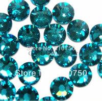 Free Shipping 1440pcs SS3 1.4mm Crystal Glue Fixed Flatback Blue zircon Rhinestone Nail Art Decoration Jewelry accessories