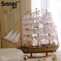 For dec  oration 60cm sailboat model decoration wooden ship model ship technology