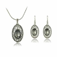 Europe United  2013 new fashion retro hollow exquisite sweet and elegant crystal   jewelry set S006