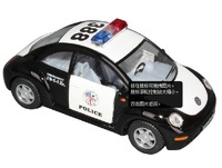 Free Shipping Brand New KINGSMART 1:24 Scale VW Volkswagen New Beetle Police Car Diecast Model Toy In Stock