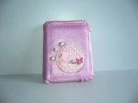 Series of light purple medium wallet