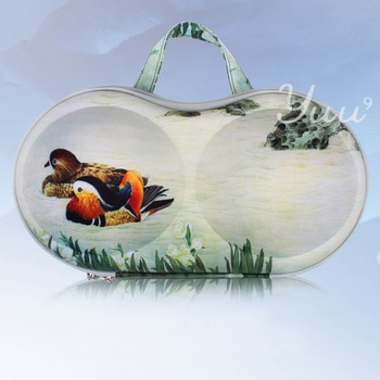 Best Selling Valentine's day  gift two mandarin ducks bag New directions bra case EVA bra portable bag