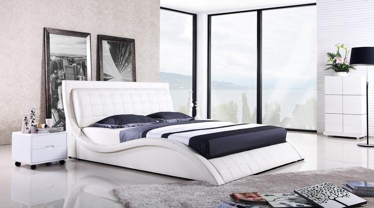 Design Slaapkamer Meubilair : Modern Upholstered Platform Bed