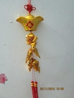 Ingot fish hangings gold plated hangings new year festive chinese knot hangings