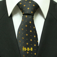 Men`s Floral Popular Novelty Black With Orange Ties For Men Gray Business Formal Neckties Gravatas 9CM F9-D-3