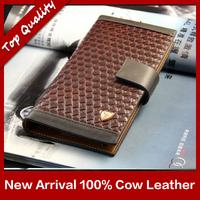 2015 High Quality genuine leather documents men's fashion designer brand Korean wallet purse clutches handbag