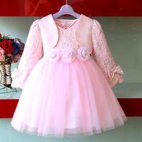 Children's clothing  child  autumn and winter classic formal dress princess dress flower girl dress