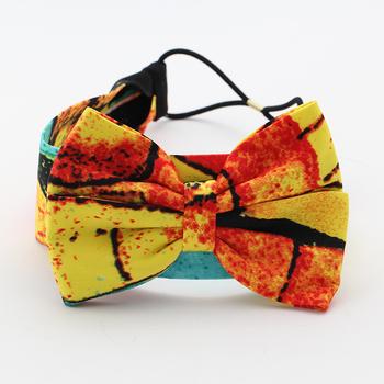 Net unique fashion bohemia fashion print fashion big bow elastic rubber band headband hair band