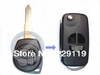 Free Shipping Replacement Modified Flip Folding Auto 2 Button Remote Case Fob Cover Car Key Blank Key Shell for Suzuki SX4 Swift