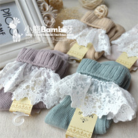 Vivi magazine vintage laciness lace fresh cotton pile of pile of socks female socks