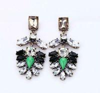 Fashion jewelry crystal rhinestone statement earrings vintage drop earrings for women, Free Shipping