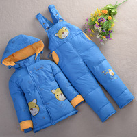 Children's clothing down coat child down coat male female child set baby down coat