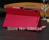 "For New Google Nexus 7"" 2 Leather Case,newest Flip Pu leather Stand Case Pouch For Google 2nd Generation Nexus 7,10pcs/lot"
