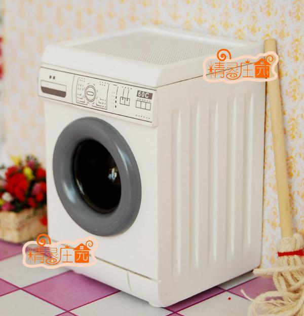 casa de bonecas boneca casa eletrodomésticos móveis mini máquina de lavar moderno(China (Mainland))