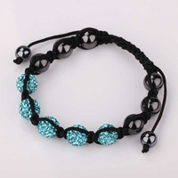 New Style! Free Shipping!10mm Handmade Disco Ball Beads Men Gift Crystal Shamballa Bracelet Fasion jewelry Bracelet SBB058
