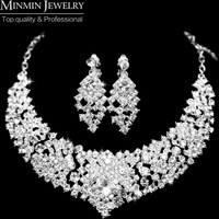 New 2013 Free Shipping Gorgeous Crystal Bridal Jewelry Sets Wedding Jewelry Accessoies Necklace Earrings for Women Party