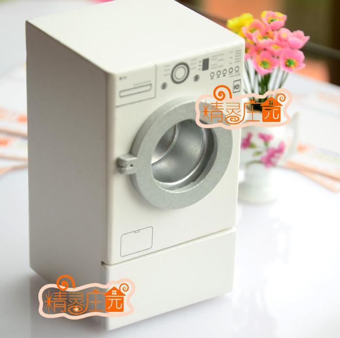 Casa de bonecas Dollhouse modelo mini-móveis acessórios máquina de lavar com gaveta(China (Mainland))