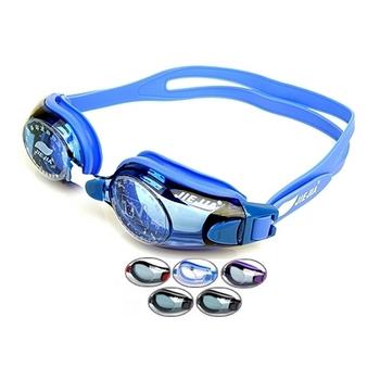 Swimming goggles waterproof mirror jiejia anti-fog mirror goggles multicolor