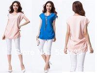 New 2013 autumn -summer  big size tops&tees OL style slim chiffon Casual T shirt women plus size S~3XL