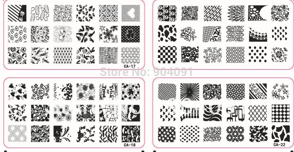 HOTSALE 8PCS/LOT CA Series 120*60MM Size Stamp Stamping Image Konad Plate Print Nail Art Template DIY(China (Mainland))