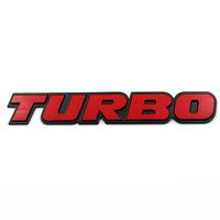 Free shipping 10pcs/lot High quality 3D Turbo s power and sports car logo sticker Aluminum alloy Car Mental Sticker/3M back glue
