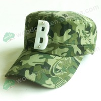 Military Style Woodland 3d letter B Camo Army Hat Cap Camouflage Pattern Adjustable Velcro
