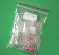 Free shipping 5type*10pcs=50pcs 5MM LED Red white green blue yellow LED Package,light emitting diode package