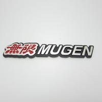 Free shipping 10pcs/lot High quality 3D Mugen power and sports car logo sticker Aluminum alloy Car Mental Sticker
