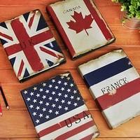 Lianhua stationery fashion vintage national flag notebook prize  2pcs/set
