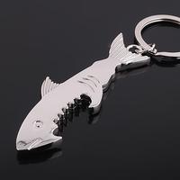 Manufacturers supply shark shark keychain bottle opener keychain promotional gifts