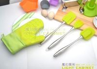 Oem tools wilton baking stainless steel silica gel drawshave hair brush set cake tools