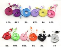 10PCS New 1m Flat Type Micro USB Extension Data Sync Charging Cable For PDA Cell Phone