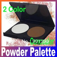 Free Shipping+Drop Shopping Makeup Cosmetic Contour Shading Concealer Powder Palette 2 colors,Bronzing Powder