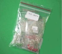 Free shipping 5type*40pcs=200pcs 5MM LED Red white green blue yellow LED Package,light emitting diode package