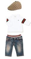 Retail Children Clothing set 2013 The Brand baby Boy Sport Casual 3pcs Suit T Shirts+Demin Pants +Cap Winter Coats Sets Boys