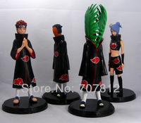 4x Obito/Zetsu/Pein/Konan  Naruto Aaction Figure Anime  Figures 4pcs/set 19CM Collections  Free Shipping Best Gifts